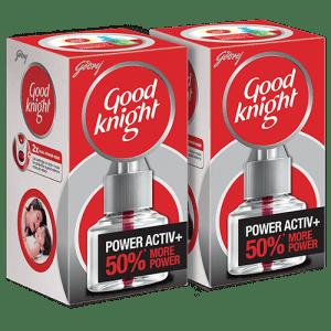 गुडनाइट पॉवर अॅक्टिव+ ट्विन सेव्हर पॅक -50% अधिक शक्तिशाली
