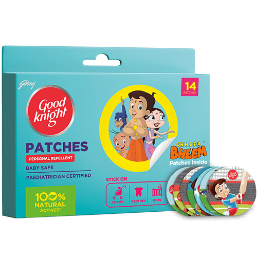 Goodknight Patches - Natural Mosquito Repellent Patches for Babies